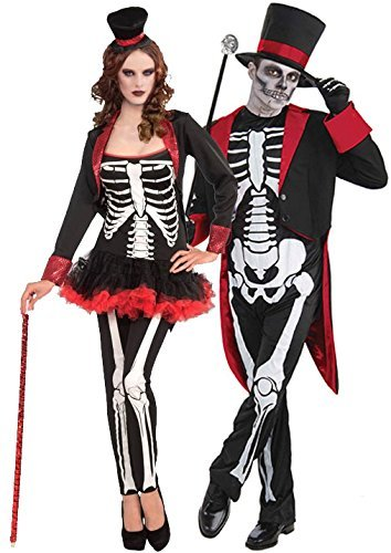 Mr & Mrs Bones Jangles Halloween Couples Costume by Bristol (Couples Costumes)