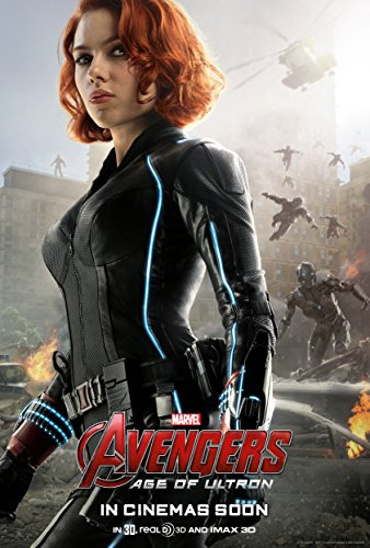 Avengers: Age of Ultron, BLACK WIDOW (2015) Movie Poster 24x36 , Glossy Finish (Thick): Iron Man, Black Widow, Thor, Captain America
