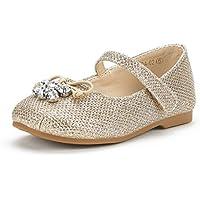 DREAM PAIRS Girl's Toddler/Little Kid/Big Kid Aurora-03 Mary Jane Ballerina Flat Shoes