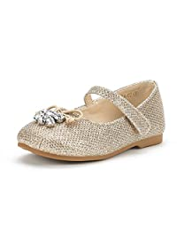 DREAM PAIRS Girl's Toddler/Little Kid/Big Kid Aurora Mary Jane Ballerina Flat Shoes