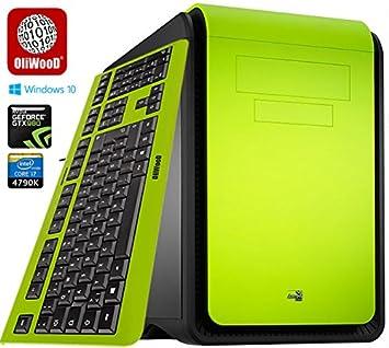 Gaming G5 oliw Brentwood Diseño PC Incluye Bunter Diseño Teclado ...