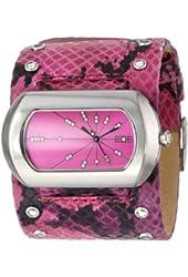 EOS New York Women's 76LFUS Snake Leather Strap Watch