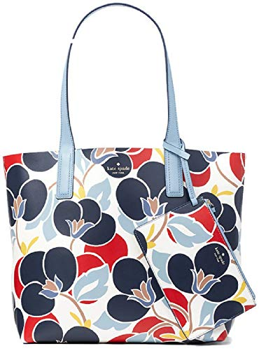 Kate Spade New York Arch Place May Reversible Tote, Breezy Floral Navy