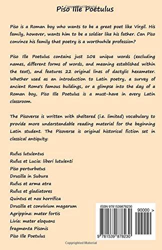 Piso Ille Poetulus A Latin Novella Latin Edition Lance