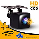Car Backup Camera-Universal-Fits All Vehicles- Front Rear View Camera Configurable Parking Guidelines ON/Off