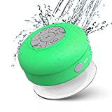 JEMMA Waterproof Bluetooth Speaker Wireless Shower Portable Hand-Free Call with Mic(Green)