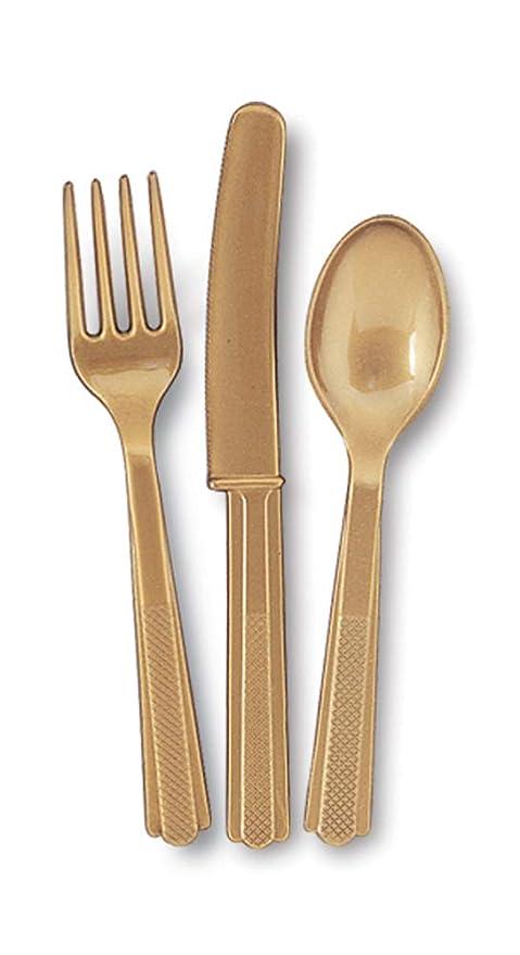 Amazon.com: Oro Conjunto de cuchillo y cuchara tenedor: Toys ...