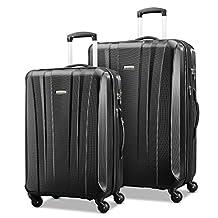 Samsonite 91823-1041 Pulse DLX Lightweight 2-Piece Hardside Luggage Set, Black, Checked – Large