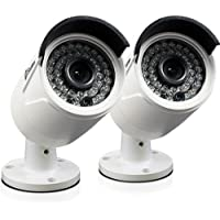 Swann CONHD-A4MPB2-CA NHD-818 4MP HD Network Security Bullet Camera with 100ft Night Vision 2-PACK