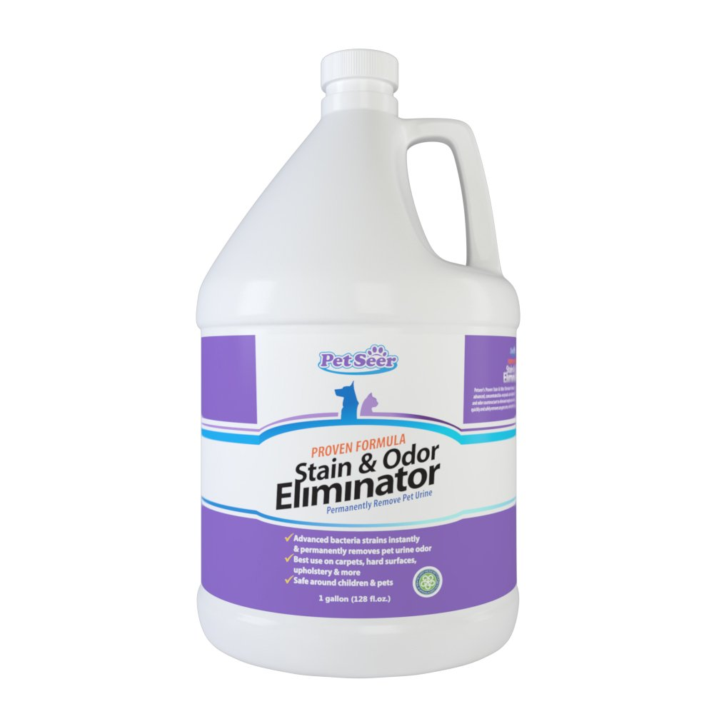 Pet Odor and Stain Remover/Eliminator - Neutralizes Strong Odors & Cleans Tough Stains - Designed to Deter Pets from Re-Marking Area - Works on House Cat, Dog and Hamster Urine - Great for Furniture, Floors, Rugs, and more! - (1 gallon )