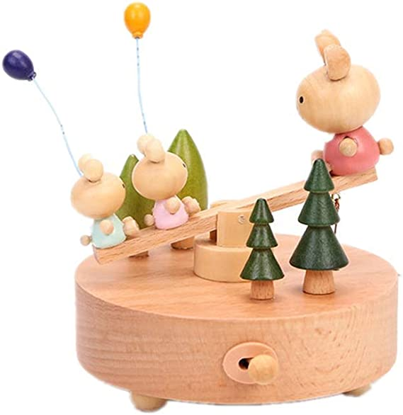 TXX Caja de música Octava Movimiento de madera Carrusel Mover ...