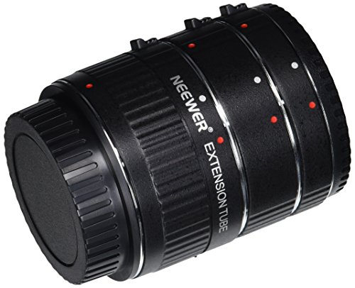 Neewer® 12-20-36mm Macro Automatic Extension Tube Set DG for Canon EOS Cameras Such as 1d Mark II,III,IV,5D Mark II,7D,10D,20D,30D,40D,50D,300D,350D,401D,0D,500D,550D,650D,700D,1000D