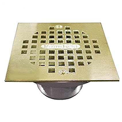 2 IPS Plastic Spud with 4 Polished Brass Square Strainer PVC- Pack of 5 - - Amazon.com