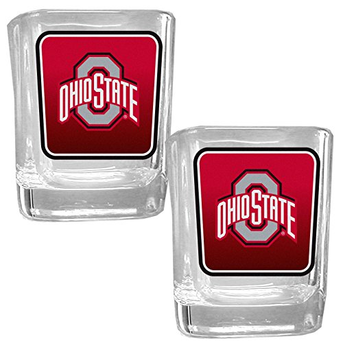 NCAA Ohio State Buckeyes Square Glass Shot Glass Set