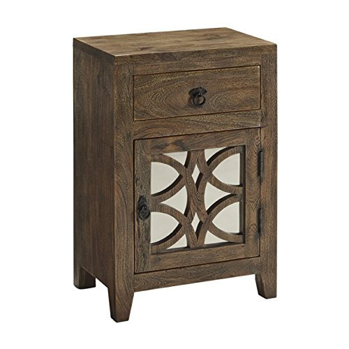 Ashley Charlowe Night Stand in Brown (Mirror And Wood Nightstand)