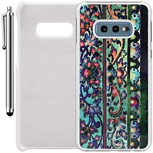 Custom Case Compatible with Galaxy S10e (5.8 inch) (Floral Art Malaya) Plastic White Cover Ultra Slim | Lightweight | Includes Stylus Pen by Innosub