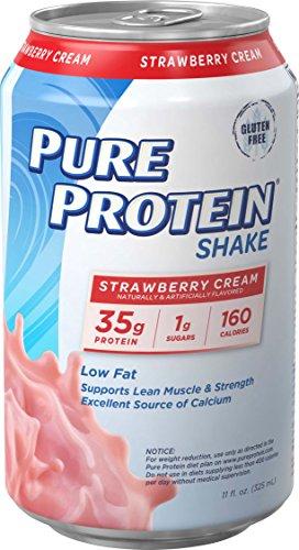 Pure Protein® 35g Shake - Strawberry Cream, 11 ounce, 12 count (Pure Strawberry)