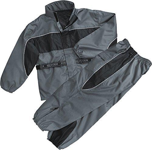 NexGen Men's Rain Suit (Black/Grey, XXX-Large)