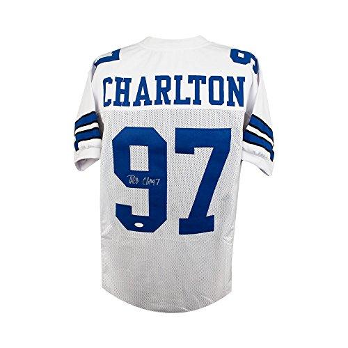 Taco Charlton Autographed Dallas Cowboys Custom White Football Jersey - JSA (B)