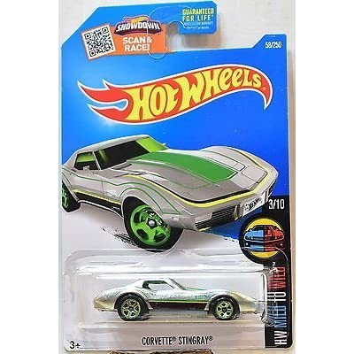 Hot Wheels 2016 HW Mild to Wild Corvette Stingray 58/250, Exclusive ZAMAC: Toys & Games