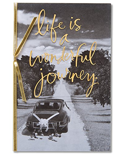 American Greetings Wonderful Journey Wedding Card with Ribbon