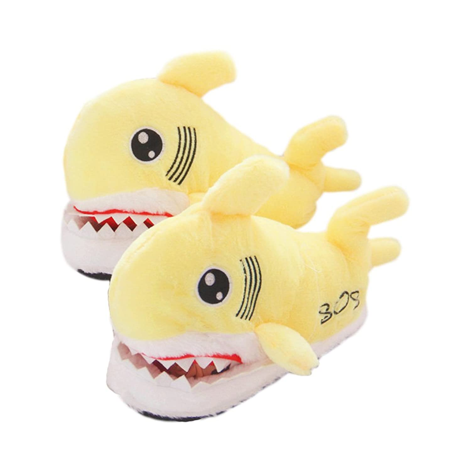 ACTLATI Kawaii Cartoon Shark Women Girls Home Shoes Soft Cute Animal Anti-slip House Slippers