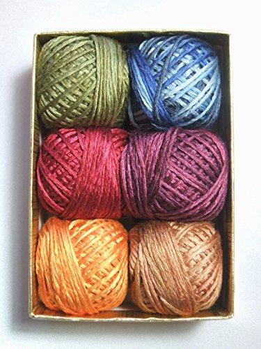 (Valdani Luxury Silk 6 Strand Floss Jewels Set 1 Thread Hand-dyed 6 Spool VAK1001)