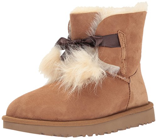 Snow Gita UGG Boot Mid Women's Top Australia UGG Chestnut Sheepskin HHrUFW0