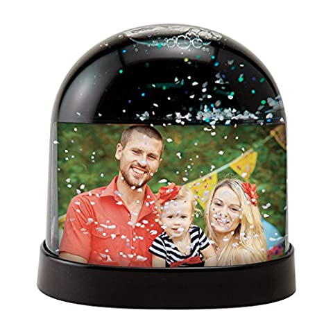 Horizontal Photo Snow Globe (Black) - Snow White Pictures