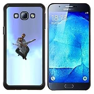 LECELL--Funda protectora / Cubierta / Piel For Samsung Galaxy A8 A8000 -- Idiota en el cielo --