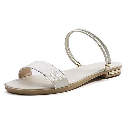 Aisun Femme Mode à Enfiler Bout Ouvert Orteil Cool Mules Sandales