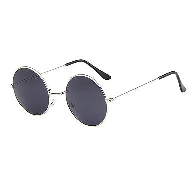 Gafas de Sol Hombre Redondas Vintage Hombres Gafas Retro ...