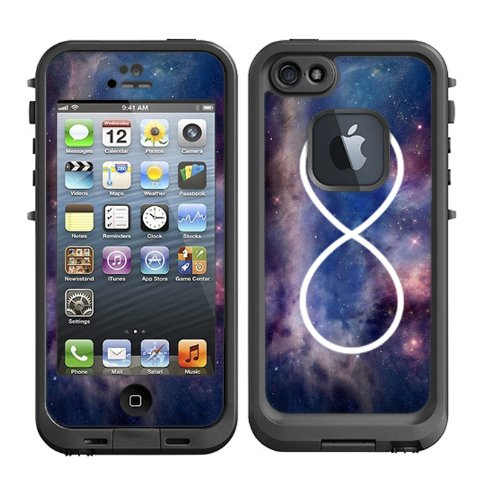 Skins Kit for Lifeproof iPhone 5 Case (skins/decals only) - infinity Galaxy Nebula Case for iPhone 4 or 4S