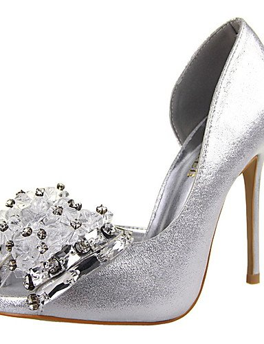 GGX/Damen Heels Fall Heels/spitz Zehen/Kleid Stiletto Heel Schleife Schwarz/Pink/Rot/Weiszlig;/Silber/Gold