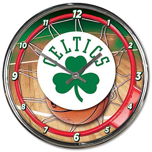 - NBA Boston Celtics Chrome Clock, 12