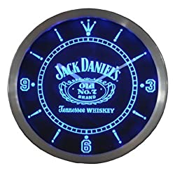 Everything's Perfecto LED Blue Wall Clock Jack Daniels #1 Bar Pub Cafe Restaurant by WorldLEDHouse