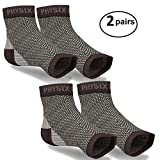 2 Pairs Plantar Fasciitis Socks with Arch Support, Best 24/7 Foot Care Compression