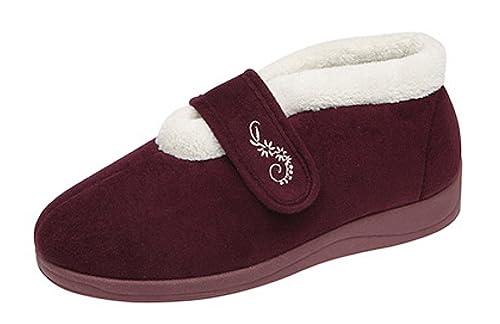 f8dbfc8169f1 Dunlop, Pantofole donna, Rosso (Bordeaux), 37.5: Amazon.it: Scarpe e borse