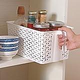 YFXOHAR 1 Qty Plastic Storage Basket Boxes Organizer Container for Storing Fruits Vegetable Utensils Kitchen