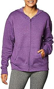 Hanes Womens EcoSmart Full-Zip Hoodie Sweatshirt