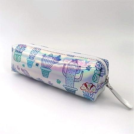 Estuche holográfico Iridiscente for niñas Boy PU Útiles Escolares Papelería Regalo Caja de lápices Linda Bolsa de lápices Estuxhes (Color : O): Amazon.es: Hogar