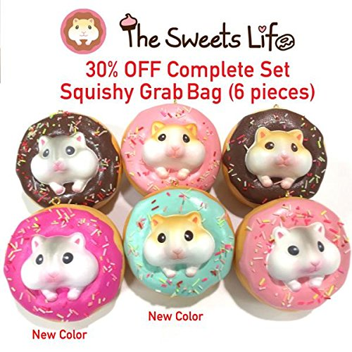 Sale The Sweet Life Series Squishy Ball Chain (Golden Hamster / 6 Piece Complete -