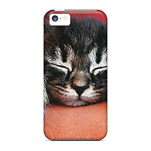 Fashion Cases For Iphone 5c- A Tabby Kitten Sleeping Defender Cases Covers