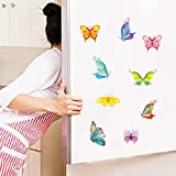 Charming Romantic Fairy Girl Wall Sticker For Kids Rooms Flower Butterfly LOVE Heart Wall Decal Bedroom Sofa Decoration Wall Art S0003B