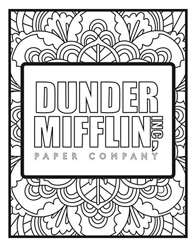 'The Office' Themed Coloring Pages (5 Pack)