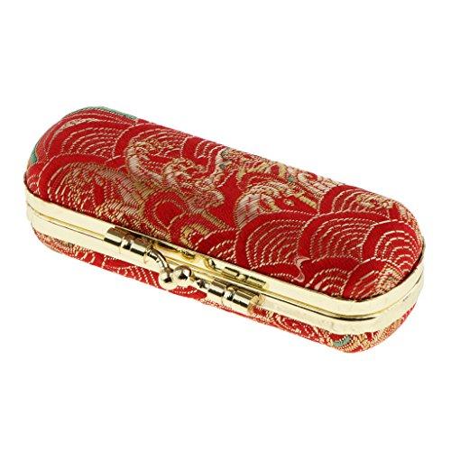 Miulika Retro Double Lipstick Lip Gloss Case Storage Box Holder With Mirror Random