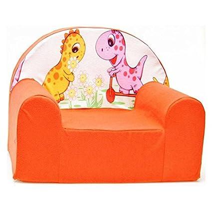 Anaranjado sillón para niño infantil mueble F15
