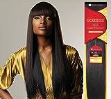 Goddess Remi Human Hair Weave Sensationnel Original Yaki 10' Color 1 Jet Black