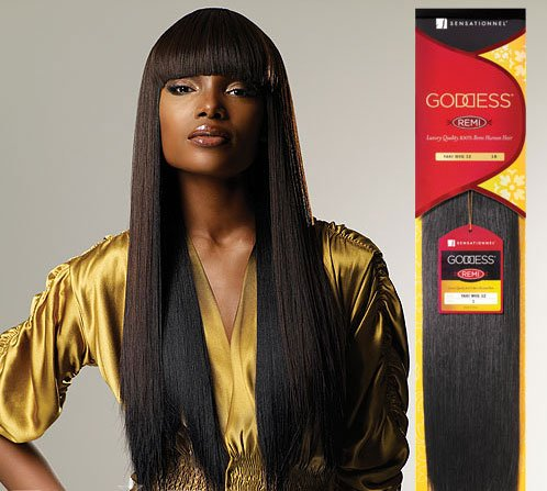 (Goddess Remi Human Hair Weave Sensationnel Original Yaki 10