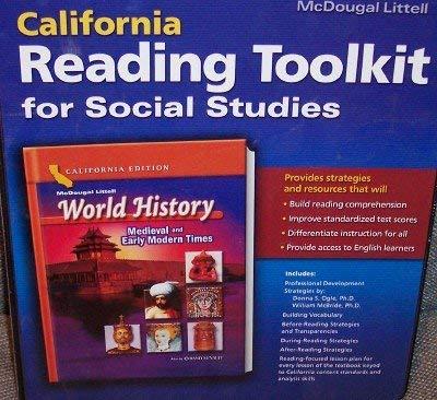 McDougal Littell World History California: Reading Toolkit for Social Studies Grade 7 Medieval and Early Modern Times [並行輸入品]   B07QHV58BN